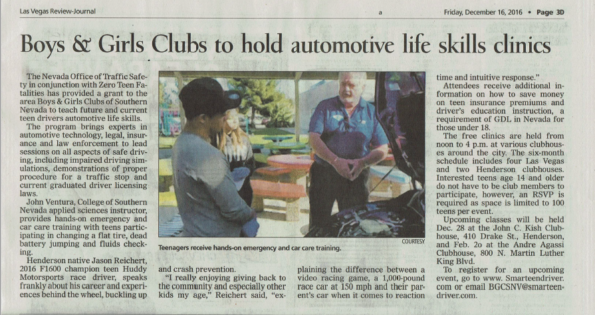 auto life skills boys and girls clubs of so nv dec 28th