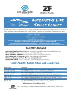 Nevada Boys and girls clubs of southern nevada auto life skills free clinics