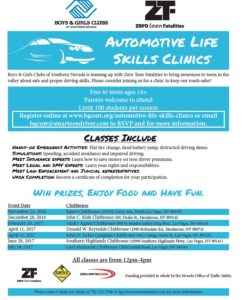 boys and girls clubs auto life skills clinics